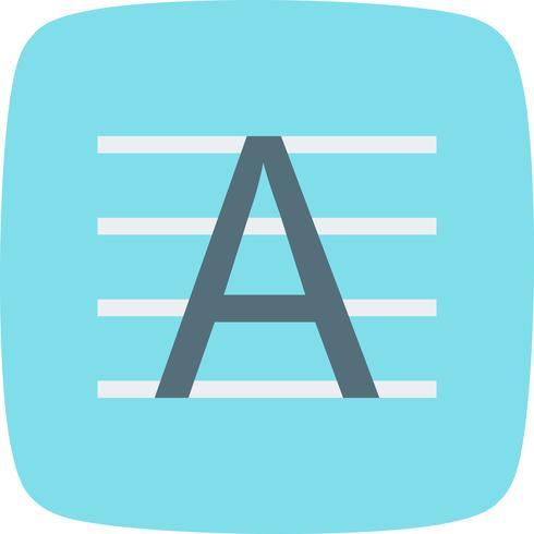 Icône de vecteur en majuscule