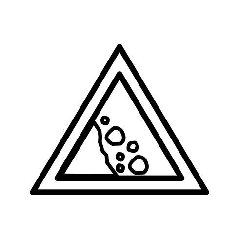 Icône de roche tombante de vecteur