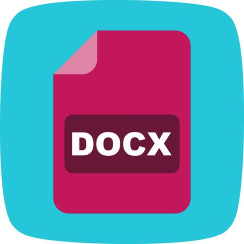 Icône de vecteur DOCX