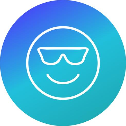 icona di vettore di emoji cool