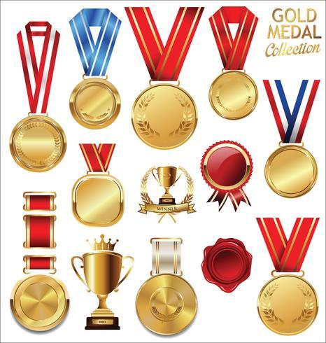 medaglia d'oro vettore