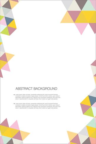 Abstract geometric design background template vector