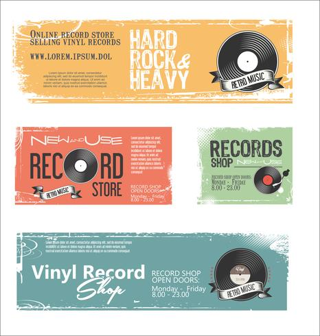 Tienda de discos de fondo retro vintage