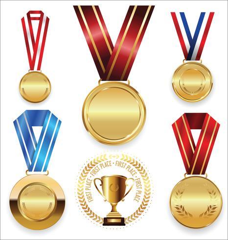 golden medals vector