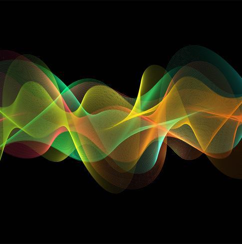 Diseño elegante y colorido de la onda que fluye