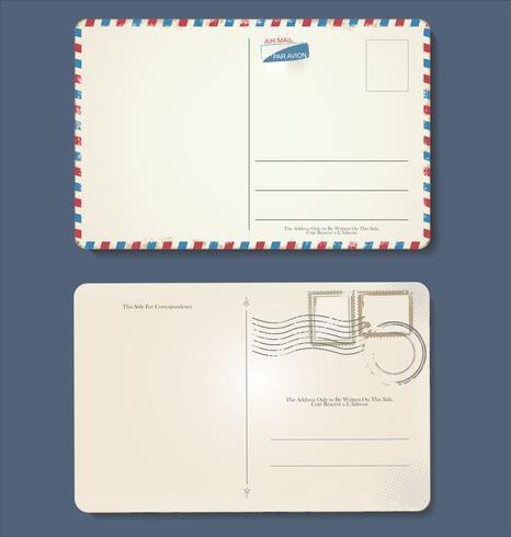 Design vintage rétro de grunge vide carte postale