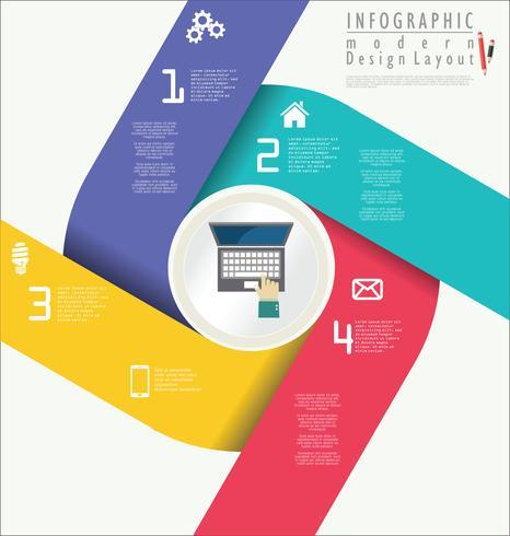 Modello di design moderno infografica