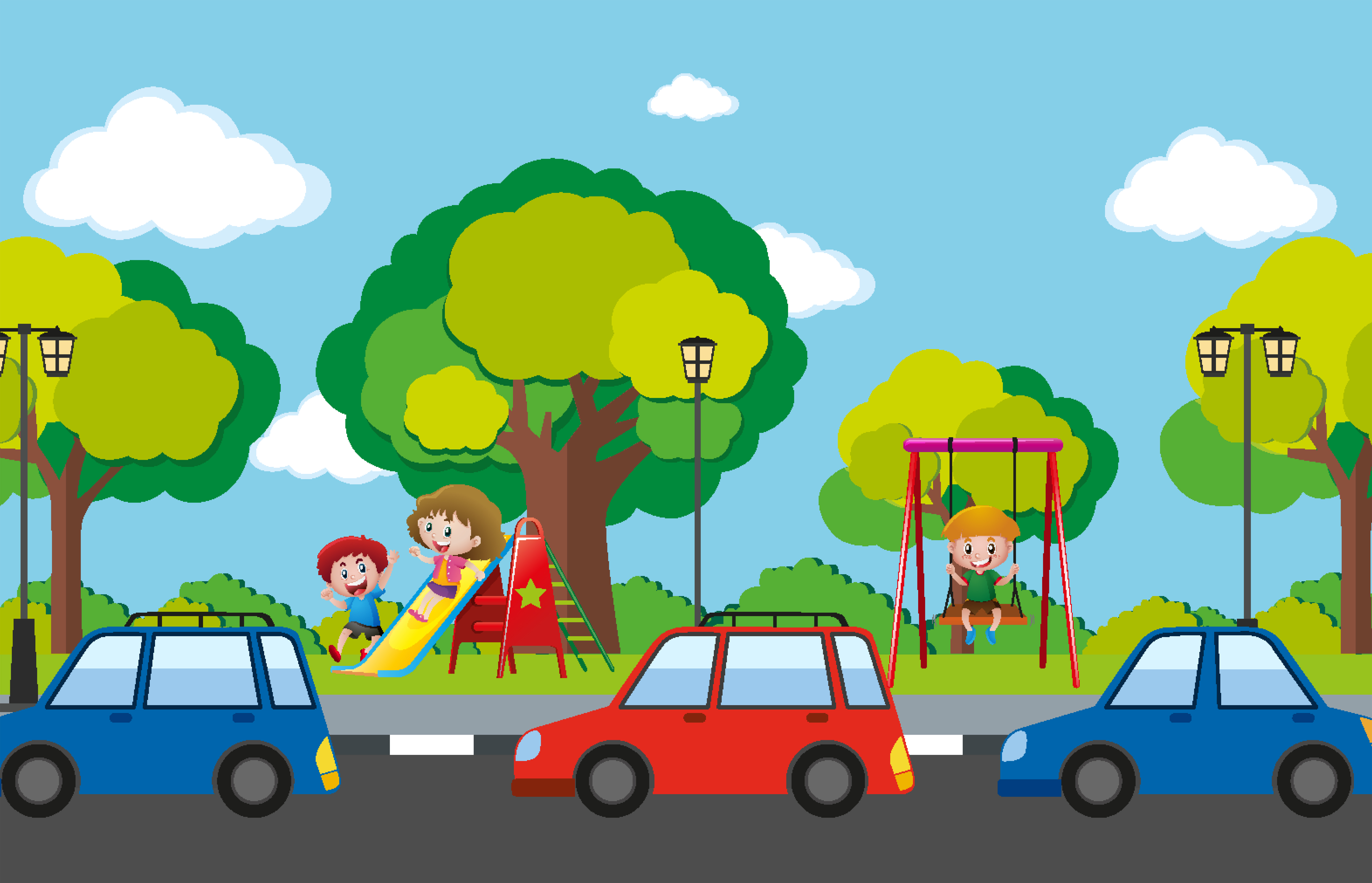 Playground Illustration Flat