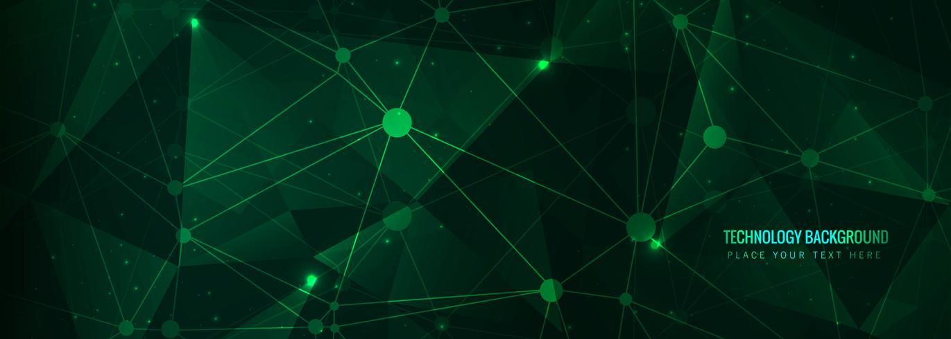 Resumen tecnología banner plantilla vector
