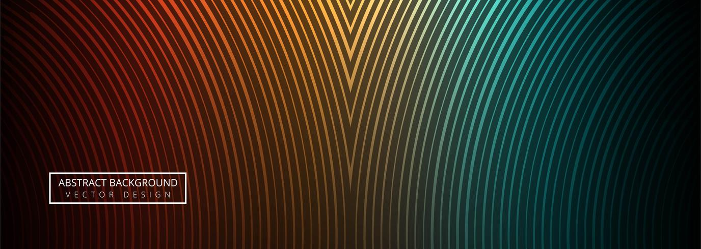 Geometric colorful lines header vector