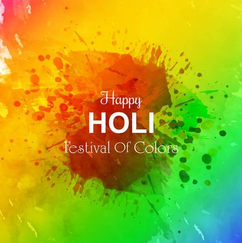 Abbildung des bunten glücklichen Holi-Hintergrundes