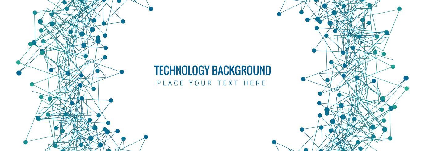 Abstrakter Technologie Banner Vorlage Hintergrund