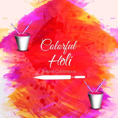illustration of Colorful Happy Holi Background