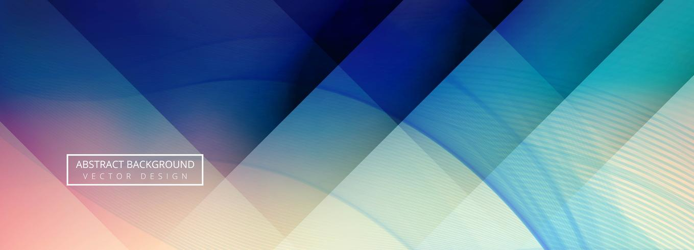 Abstract colorful wave banner background vector
