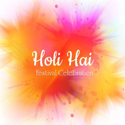Feliz celebración colorida holi para el fondo de la tarjeta