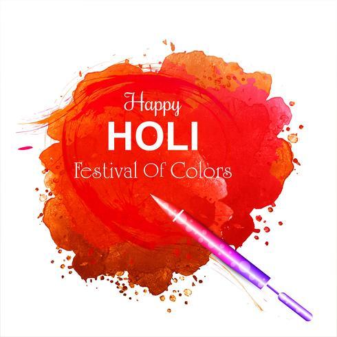 Vectorillustratie van Holi-de achtergrond van de vieringskaart vector