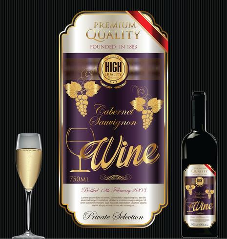 Luxury golden wine label