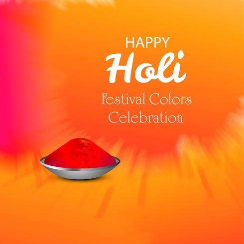 Illustration vectorielle de fond de carte de fête Holi