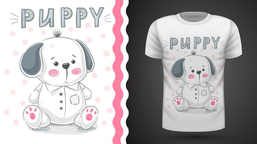 Dog, puppy - idea for print t-shirt vector
