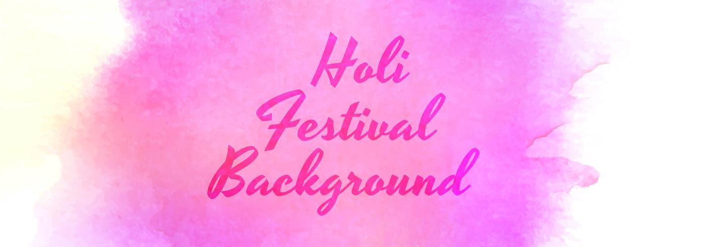 Schöner holi Festivalfeierfahnenvektor