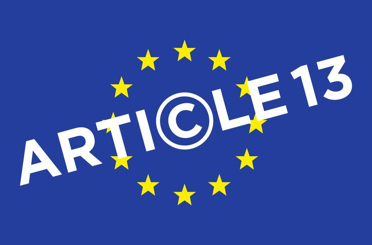 Article 13 illustration.  vector