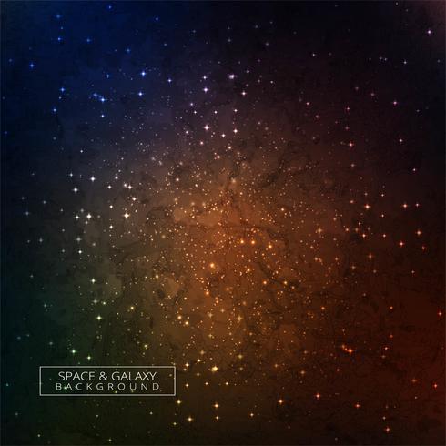 Galaxi i rymden Skönhet av universum färgstark bakgrund
