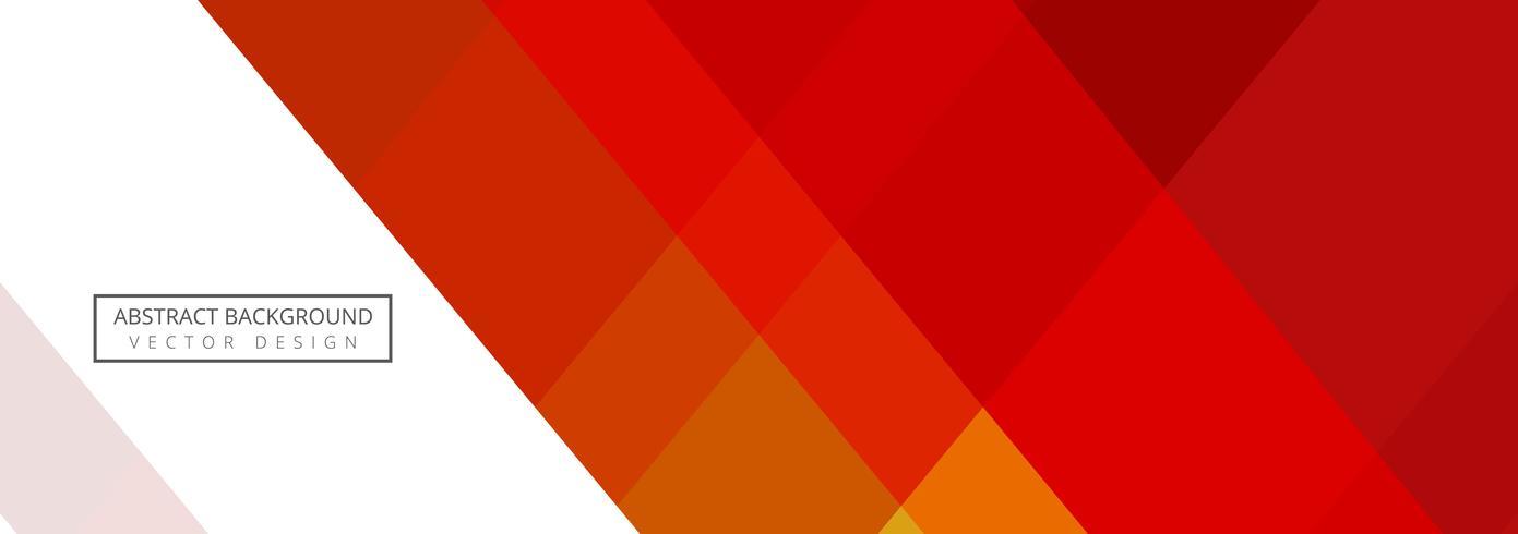 Plantilla de banner geométrica abstracta