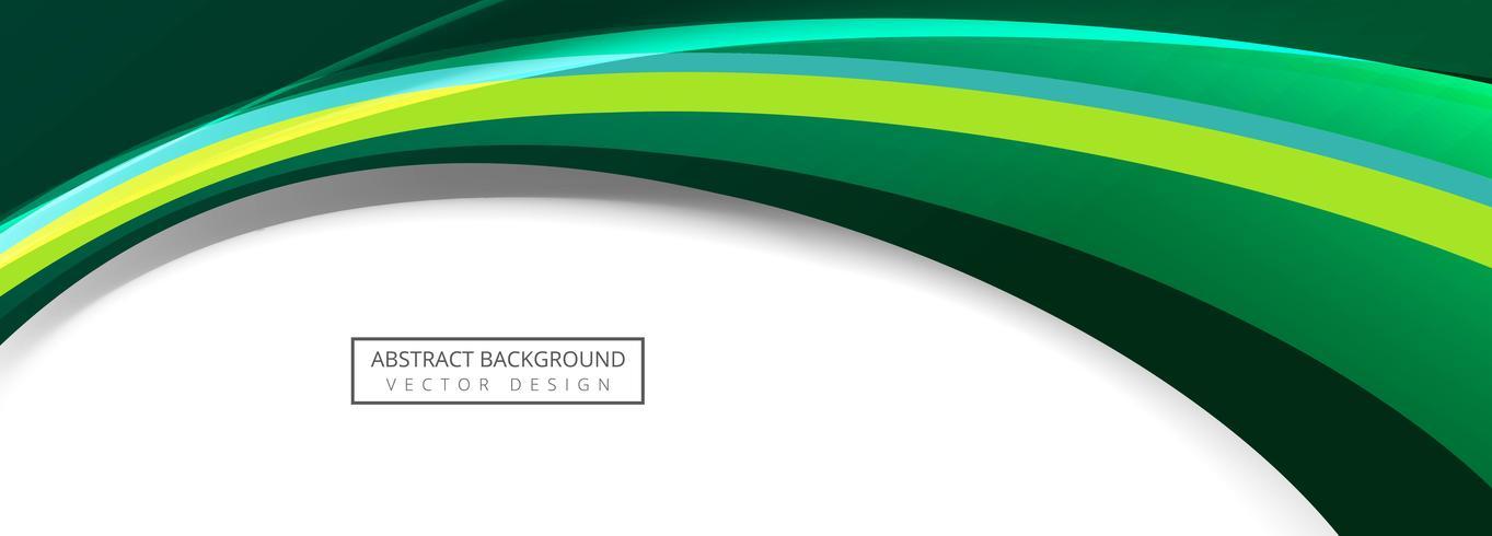 Diseño elegante hermoso de la bandera de la plantilla de la onda