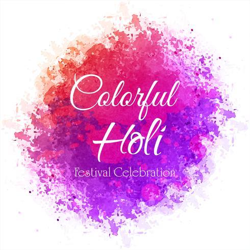 Holi festival coloré fête fond vecteur