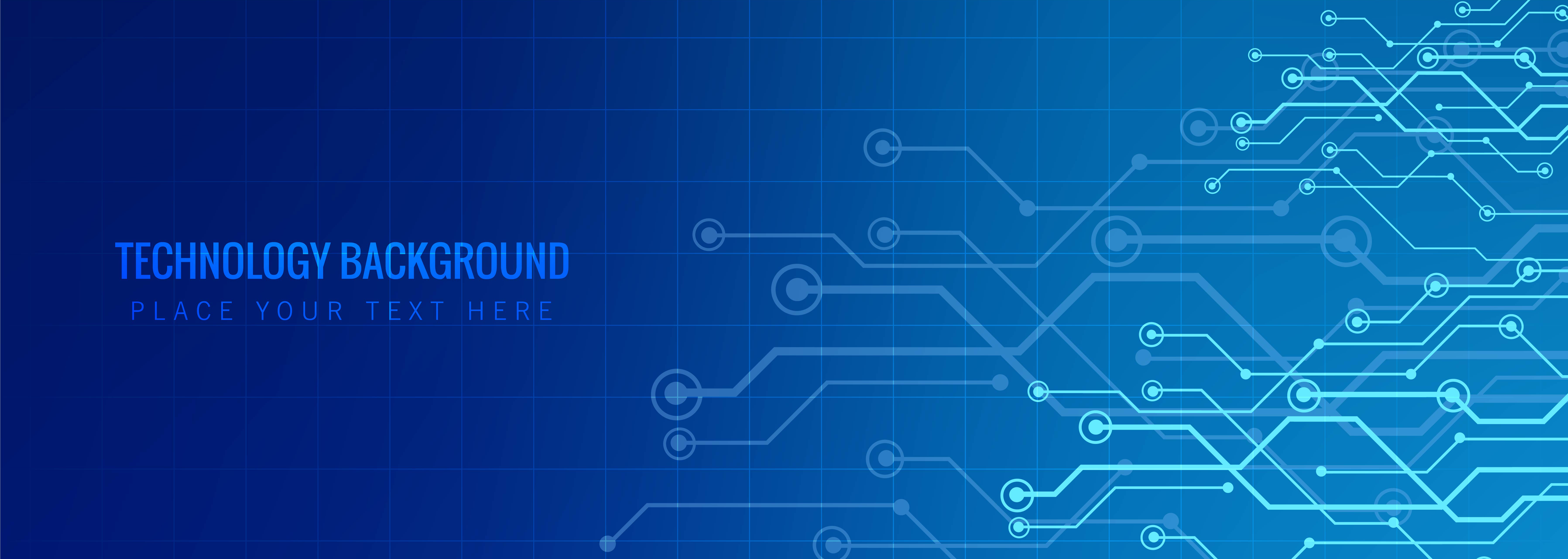 Abstract Technology Banner Template Vector Download Free