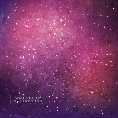 Galaxy Bakgrund Färgrik Design