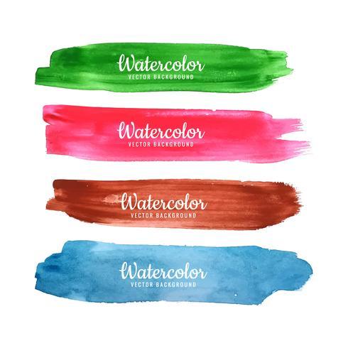 Abstract Watercolor Strokes Design vector