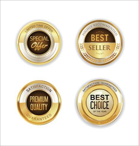 Goldener Verkauf beschriftet Retro- Weinleseauslegungssammlung