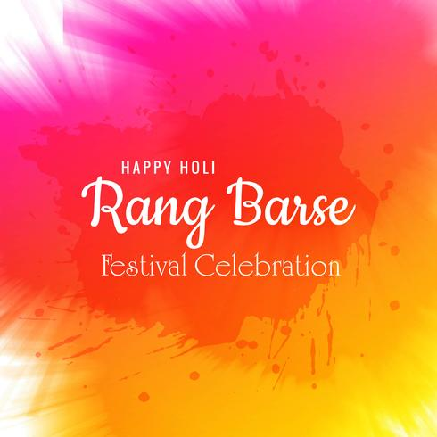 Ilustração em vetor de fundo de cartão de celebração de Holi