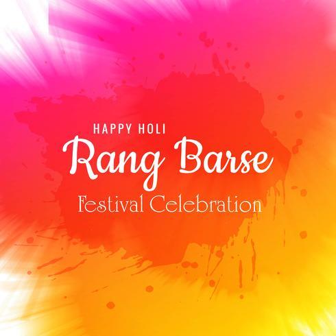 Vector illustration of Holi celebration card background