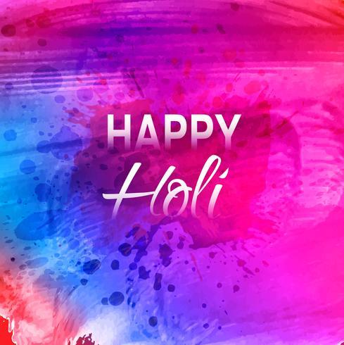 Festival indiano feliz Holi celebração fundo vetor