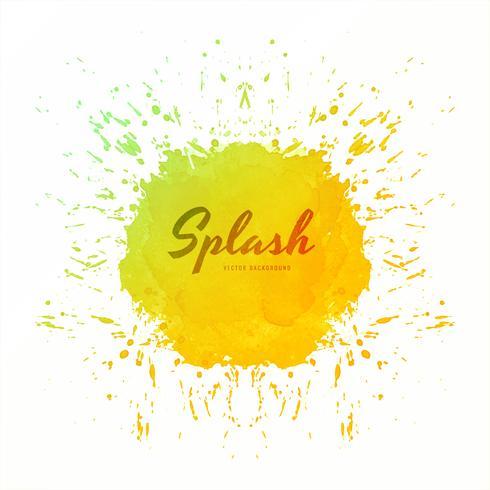 Vecteur abstrait coloré splash aquarelle douce