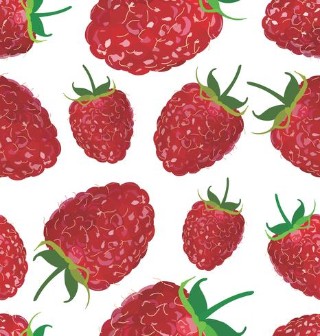 Seamless background with raspberry vector
