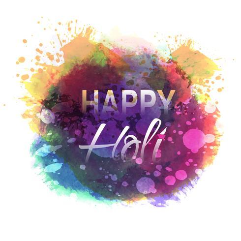 Happy Holi Feier Indian Festival der Farben