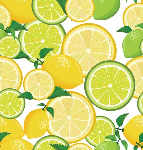 Seamless background with lemon vector