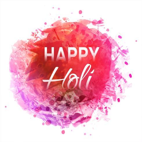 Happy Holi sur fond abstrait splash coloré