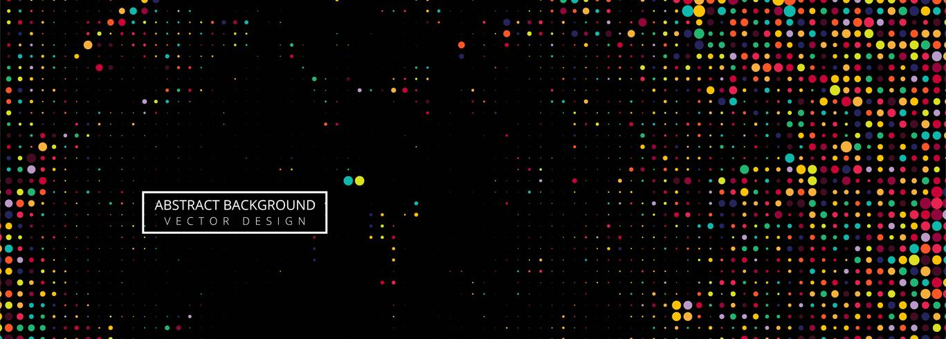 Fondo negro del vector de semitono colorido puntos