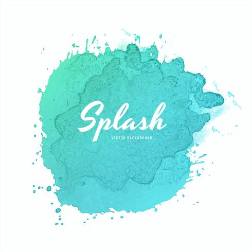 Conception de splash aquarelle coloré doux