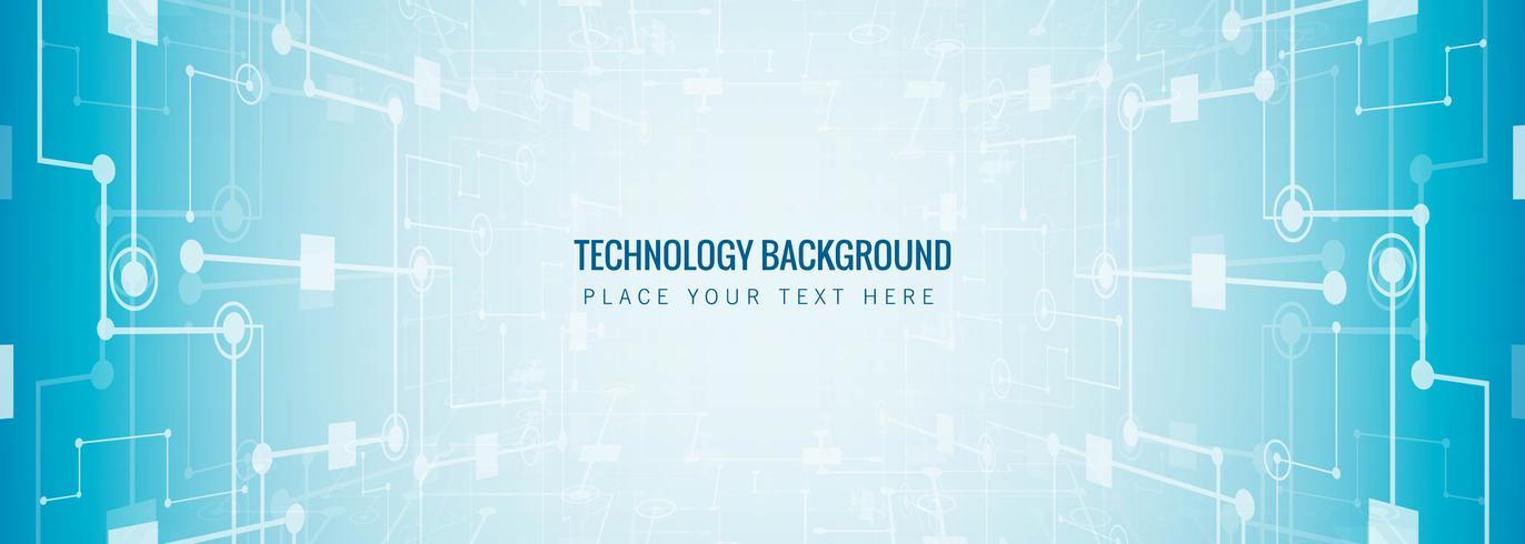 Fond de modèle de bannière de technologie abstraite