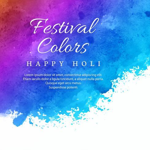 Holi festival colorido fundo de celebração vetor
