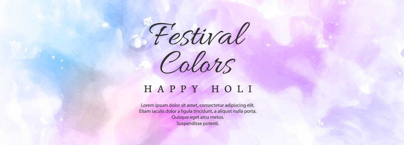 ilustração do modelo de cabeçalho colorido feliz Holi
