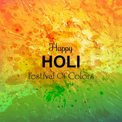 Colorful happy holi watercolor texture background