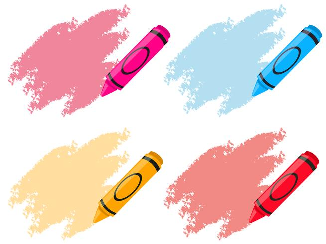Crayons em quatro cores
