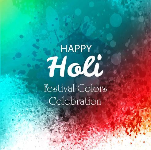 Feliz Holi Indian festival de primavera de colores de fondo