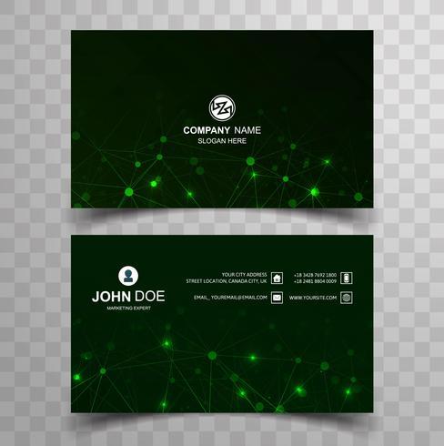 Elegante diseño de plantilla de tarjeta de visita creativa vector